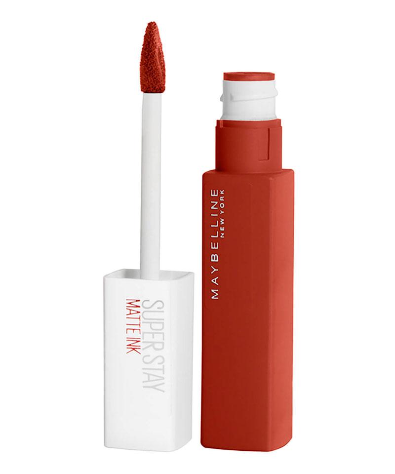 Fiive Beauty Top 5 Matte Red Lipsticks Maybelline Superstay 24 Matte Ink Lipstick - groundbreaker