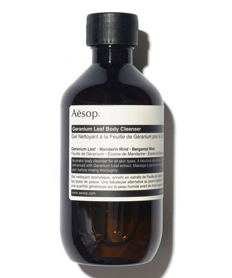 Fiive Beauty Top 5 body washes Aesop Geranium Leaf Body Cleanser