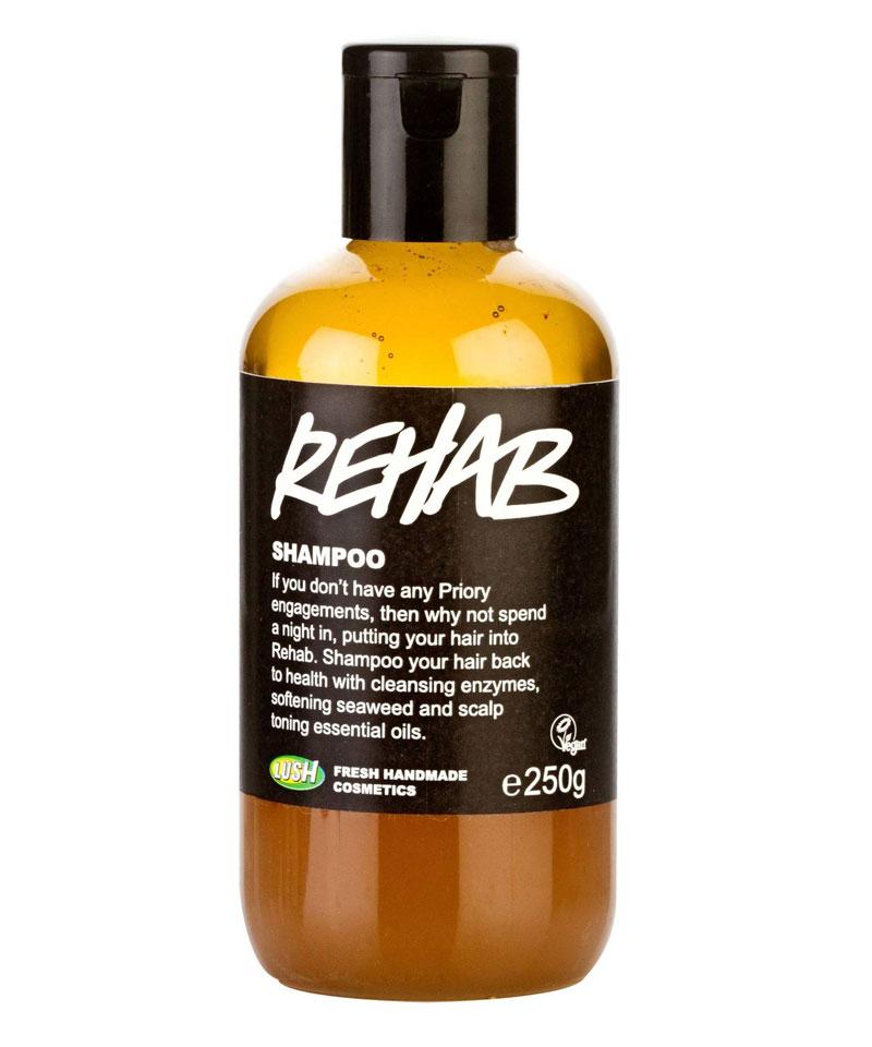 Fiive Beauty Top 5 shampoos Lush Rehab Shampoo