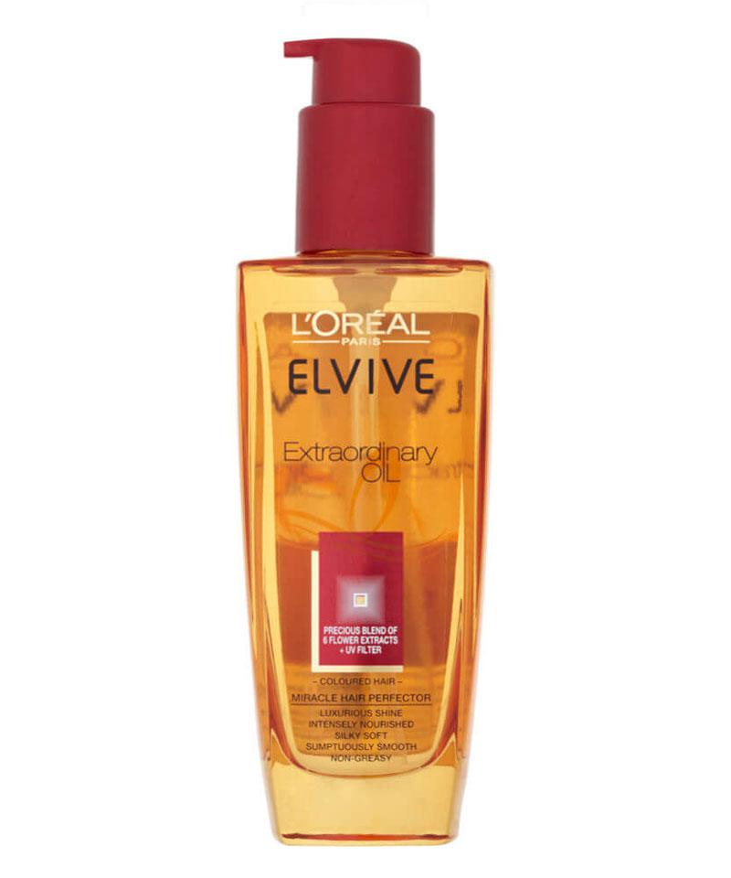 Fiive Beauty Top 5 Hair Oils L'Oreal Hair Oil by Elvive Extraordinary Oil for Coloured hair